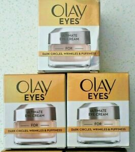 3 x 15ml OLAY EYES ULTIMATE EYE CREAM FOR DARK CIRCLES PUFFINESS AND WRINKLES