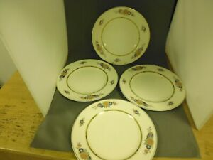 """Vintage J & G Meakin Sol 391413 china (pattern unknown) 4 x 8"""" side plates (TER)"""