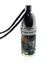 Angelic Reiki Crystal Gemstone Mojo Bottle Pendant