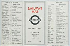 London Transport Beck type London Underground map dated No.2 1934