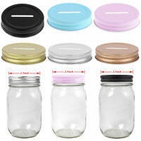 8 Rust Resistant Metal Coin Slot Bank Screw 70mm Lids for Mason Jar Ball Canning