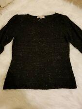NWT⭐️ Philosophy  ⭐️ Women's Black Sequins 3/4 Sleeve Sweater - Large-B27