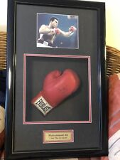 Signed Muhammad Ali Boxing Glove In Frame