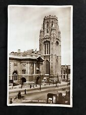 Vintage Real Photo Postcard: #TP3799: University Tower, Bristol: Posted