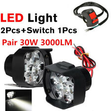 30W 2pcs 18LED Motorcycle Driving Fog Spot Head Light Spotlight with Switch