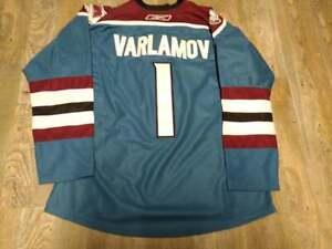 Colorado Avalanche #1 SEMYON VARLAMOV RBK Blue Alternate Jersey: Size 52 (XL)