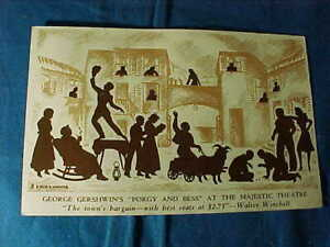 1940s PORGY + BESS George GERSHWINS MUSICAL at the MAJESTIC THEATER Postcard