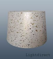 """CREAM ON GOLD FOILE EFFECT 10""""  LAMP SHADE FOR TABLE LAMP OR CEILING"""
