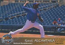 2016 Midland RockHounds Raul Alcantara RC Rookie Oakland Athletics