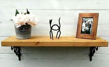 Chunky Solid Wood Rustic Mantel extra deep Shelf 10x2 Decorative Wall Brackets