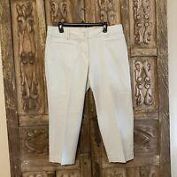 NWOT Ann Taylor LOFT Women's Size 14 Julie Crop Pants Cotton/Spandex Blend