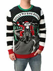 Ugly Christmas Sweater Men's Jolly To The Bone LED Light Up Sweatshirt-Small