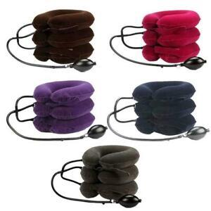 3 Layer Inflatable Neck Massage Pillow Healthcare Neck Cervical Hot Sale J0T2