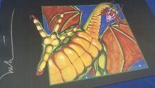 SHIVAN DRAGON Play Mat MTG SIGNED by Melissa Benson OFFICIAL WotC Wizards Magic