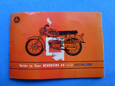 Yamaha Guide to Your Reverside 60 with Autolube Original Owners Manual owner's
