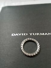 DAVID YURMAN Sterling Silver Cable Classics Band Ring Size 8