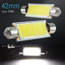 2x COB LED Map/Dome Interior Light Bulbs 6000K White 42 MM Festoon