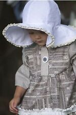 NWT Persnickety White Floppy Brim Hat Kids Size Small