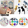 Hot 12 pcs Round Crystal Glass fridge magnet Cartoon Cat sticker Hook home Decor