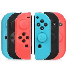 Nintendo Switch Joy-Con Joycon Anti-Slip Silicon Guard Skin Case+Thumb Grip Caps