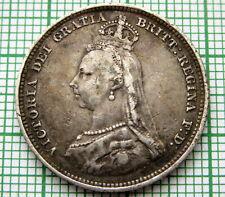 GREAT BRITAIN QUEEN VICTORIA 1887 JUBILEE SHILLING, SILVER PATINA