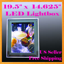 "A3 Led Slim Crystal Frame Light Box 19.5"" x 14.625"" Advestising Poster Display A"