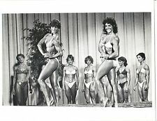 Ms Olympia Rachel McLish + Laura Combes Female Bodybuilding Contest Photo B+W
