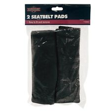 2 x LUXURY FLEECE PADS CAR VAN SEAT BELT COVERS HARNESS PROTECTORS FASTENERS NEW