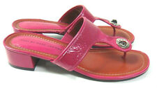 Marc by Marc Jacobs Dark Pink Crinkle Patent Leather Thong Sandals 40.5/10.5