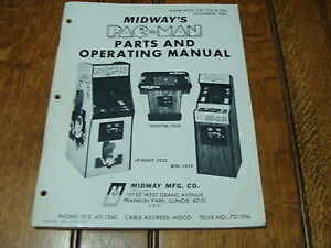 Dec. 1980 MIDWAY'S PAC-MAN parts and operating manual 60pgs + schematic