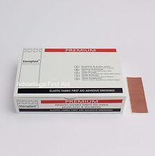 Premium Elastic Fabric First Aid Sticking Plasters (100) 7.5cm x 2.5cm  Oblong