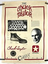 Vintage 1980 CONVERSE Chuck Taylor All Star Classic Basketball Shoe Poster 23x17