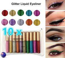 10xEye Makeup Glitter Shine Shimmer Diamond Liquid Eye Eyeliner Shadow Eyeshadow