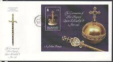 GB Alderney 2003 50th Anniversary Coronation MINISHEET FDC SGMSA203 stamps