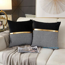 New Luxury Simple Houndstooth Couch Pillow Cushion Leaning Waist Pillow