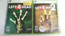 Left 4 Dead 1 + 2 Collection lot (Microsoft Xbox 360) COMPLETE fun games