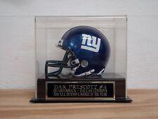 Football Mini Helmet Display Case With A Dak Prescott Dallas Cowboys Nameplate