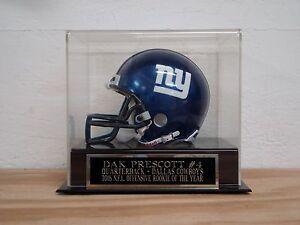 Dak Prescott Football Mini Helmet Display Case W/ A Dallas Cowboys Nameplate