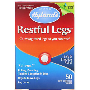 Hyland's Restful Legs for Restless Leg Syndrome 50 Tabs Effective Results