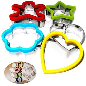 Kids Sandwich Cutter Shapes Egg Cookie Biscuit Pastry Baking Stainless Steel x1