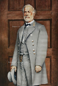 Art prints portrait of Confederate General Robert E. Lee from oil painting