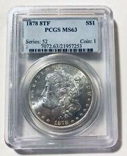 GRADED ~ 1878 8TF Morgan Silver Dollar PCGS MS63 KEY DATE Coin VAM16 R4 Scarce