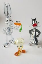 Swarovski Warner Bros Looney Tunes Serien, Tweety, Bugs Bunny and Sylvester.