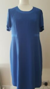 Ladies Royal Blue Dress |  Size 16 | Semi Fitted | Lined Formal Dress VGC