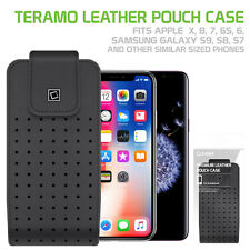 Teramo Leather Pouch Apple iPhone X 8 7 6S 6 Samsung Galaxy S9 S8 S7