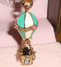 JUICY COUTURE Hot air Balloon  charm Gold With Scottish Terrier