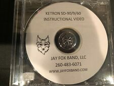 Ketron SD-90, SD-9, SD-60 Instructional DVD w/rewriten colorized owners manual