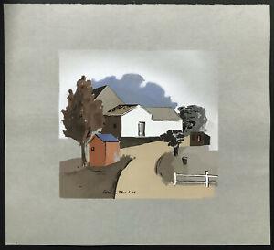 WPA Era Color Print 1936 ~ HERMAN MARIL ~ The Farm AMERICAN ARTISTS GROUP