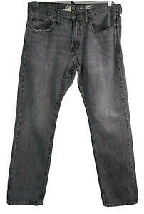 Old Navy Size 36 x 32 Men's Straight Cut Denim Jeans Distressed Faded Gray