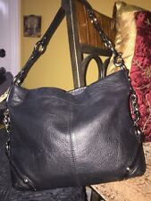 COACH Carly Black Leather Hobo Shoulder Handbag Purse